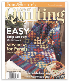 quilting cover magazine fall Halloween art direction photography