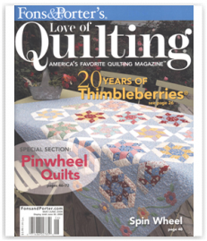 magazine cover quilting press