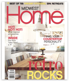 Midwest Home Magzine Kitchen design windows stove publishing