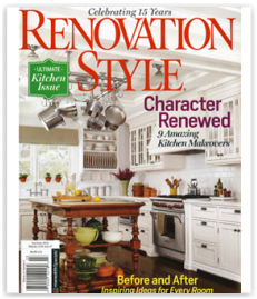 Renovation Style Magazine press kitchen design decor national magazine